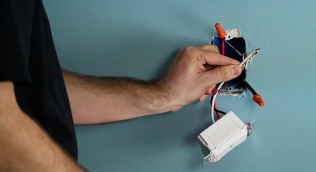 Install the dimmer and fan controls