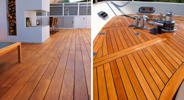 Teak floors What makes this deck exceptional?