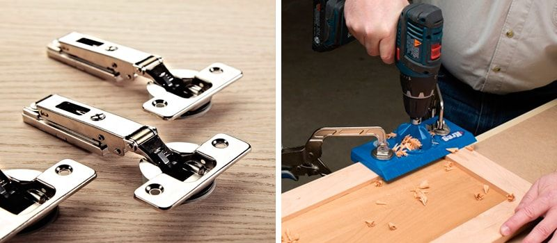 Cup Hinges: types, measurements, positioning and regulation