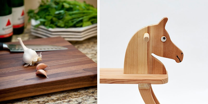 Wood finishes suitable for food and toys