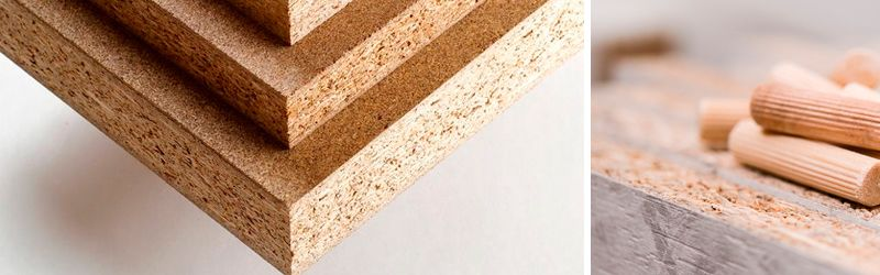 chipboard or wood particles