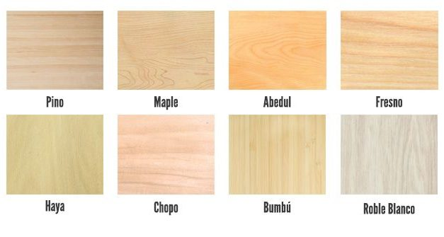Are you looking for a light wood?  List with main options