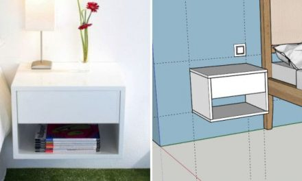 Do-it-yourself project: suspended nightstand