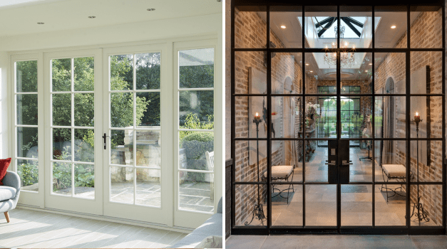 French doors: decoration, materials and images