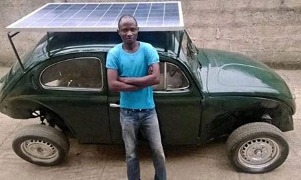 Nigerian student turns Volkswagen Beetle into solar-powered car