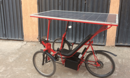 Solar-E-Cycle, a low-cost solar bike and energy source for rural African homes