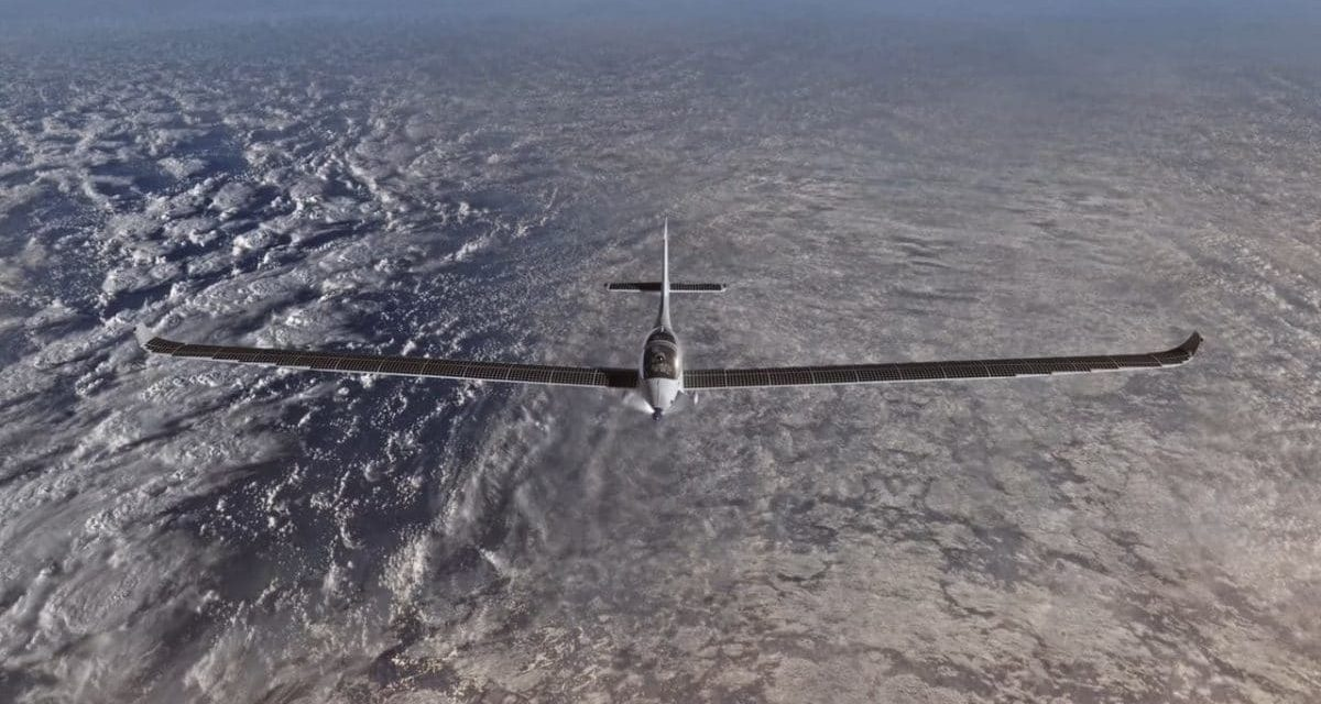 SolarStos, the world's first solar plane to travel in space