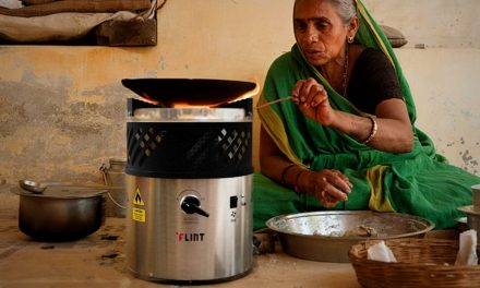 The portable cooker that uses waste oil as fuel