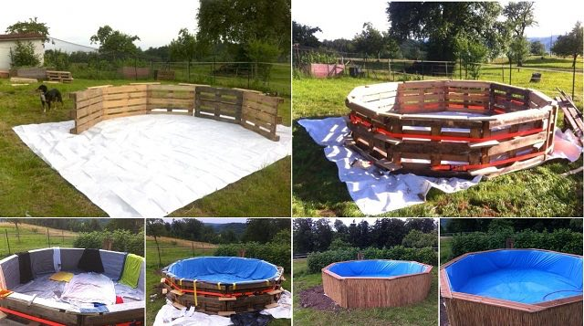 How to make a swimming pool with paddles