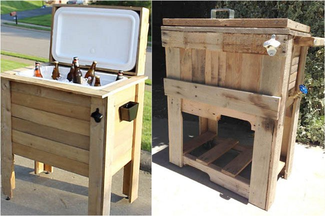 Refrigerator with pallets