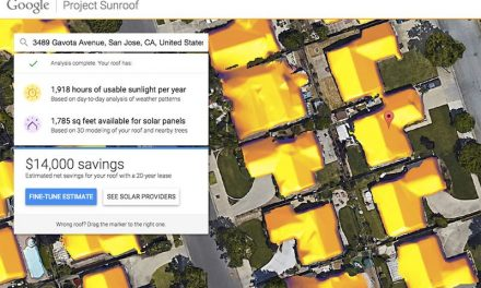 A google project to find out how much solar energy the roof of your house receives in a year