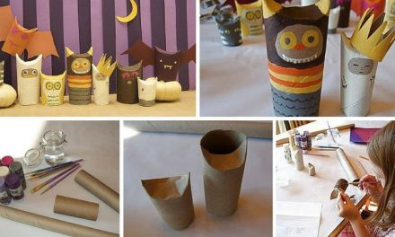 How to make creatures for Halloween with toilet paper rolls