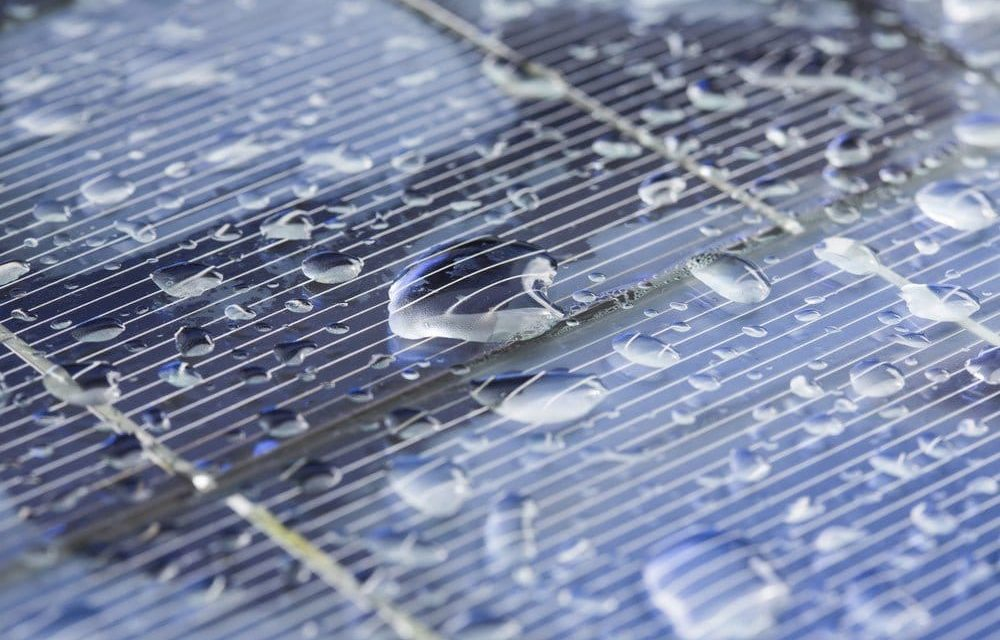 New solar cells that generate energy from the sun and raindrops