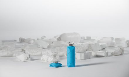 The reusable origami water bottle that fits in a pocket