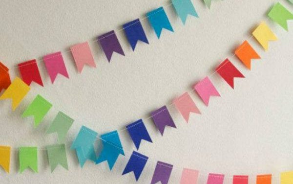 How to make paper garlands