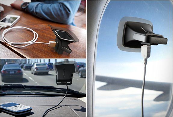 Quirky Ray.  Solar charger for Smartphones.