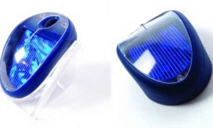 Sole Mio.  Wireless solar mouse