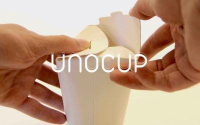 Unocup – the collapsible paper cup without plastic cover