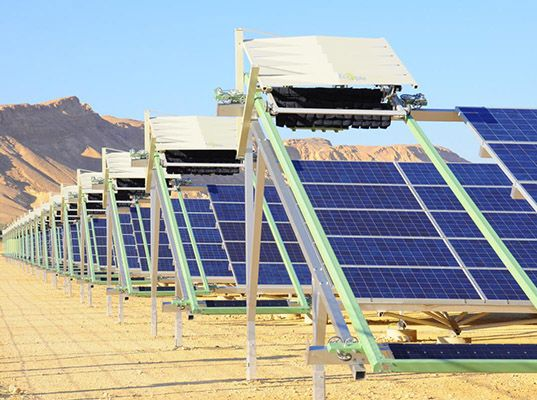 the robot increases the efficiency of solar panels