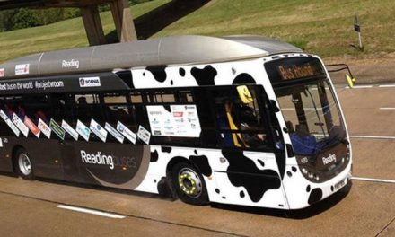 A bus that runs on cow dung
