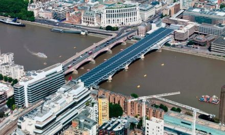 Blackfriars.  The largest solar bridge in the world