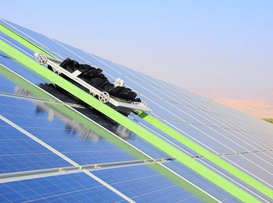 Cleaning robot increases solar panel efficiency by 35%