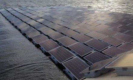 Europe's largest floating solar park is built in London