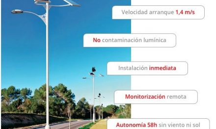 First autonomous public lighting system powered by solar and wind energy