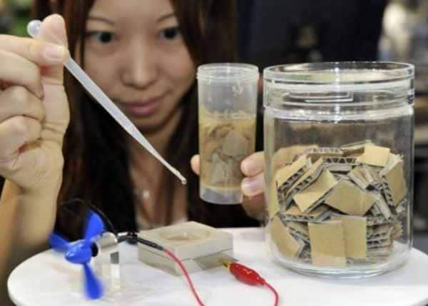Generate electricity from paper.