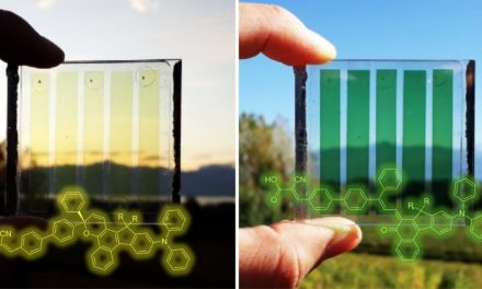 New color changing photovoltaic solar panels designed for solar windows