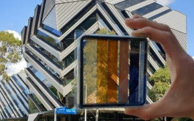 Semi-transparent solar cells for photovoltaic windows as efficient as solar roofs