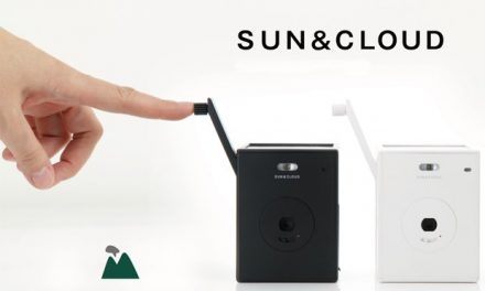 Sun and cloud.  Digital camera that generates its own energy