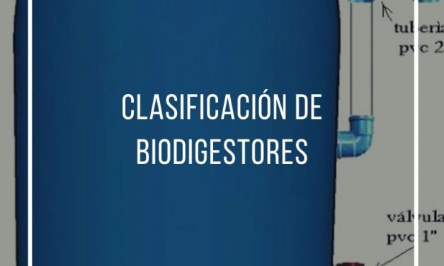 Classification of biodigesters