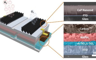 """Low-cost hydrogen production with """"submerged"""" solar cells"""