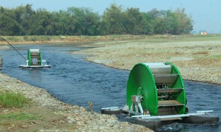 The Barsha pump is able to pump 45,000 liters of water per day without fuel
