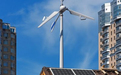 Components and applications of a system with mini wind turbines