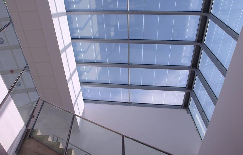 A photovoltaic skylight that generates clean and free energy