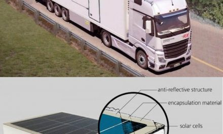 Integrating solar panels on the roof of a truck would save you up to 1900 liters of fuel per year