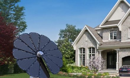 Smartflower POP +.  A solar sunflower that generates and stores all the electricity you need