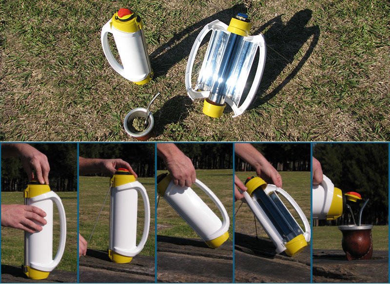 Solarmate, portable solar water heater made in Argentina