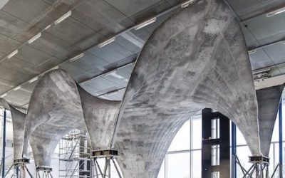 The concrete roof that absorbs solar energy and transforms it into electricity