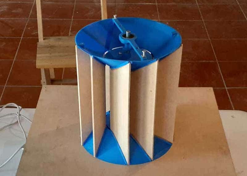 Wind booster for vertical wind turbines operating at low wind speed developed in Mexico