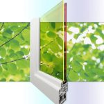 A new triple-use double-glazed solar window: shading, insulating and generating energy