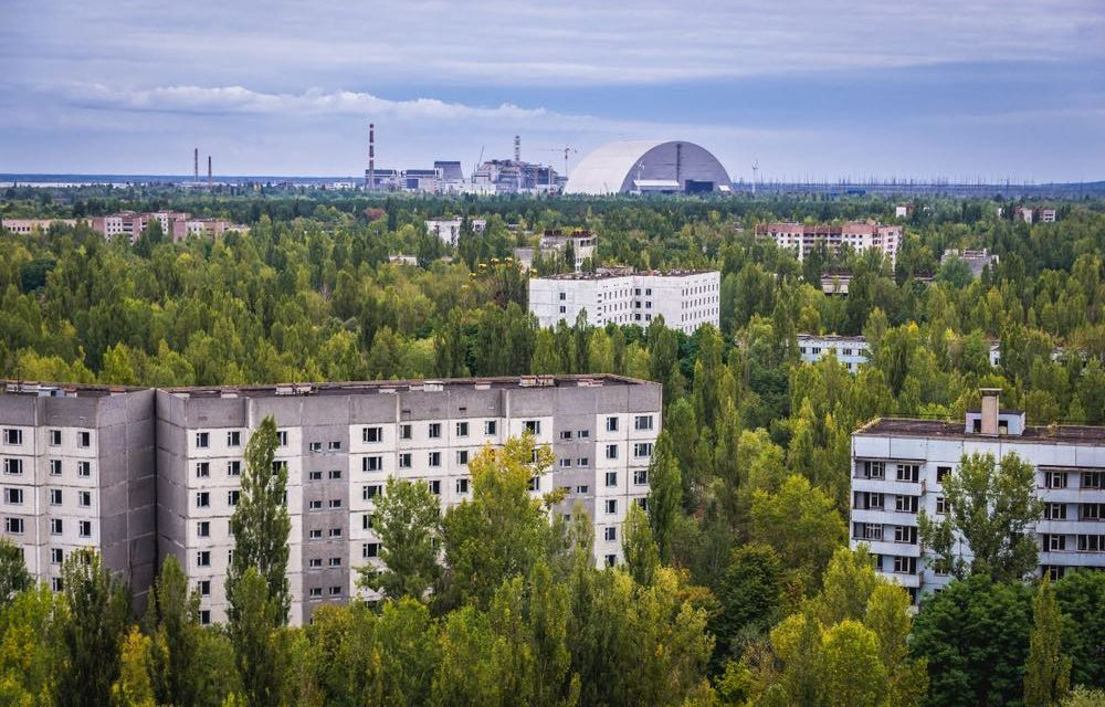 Chernobyl inaugurates solar power plant 32 years after nuclear disaster