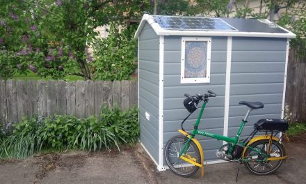 How to make a shed to charge electric bikes with solar energy