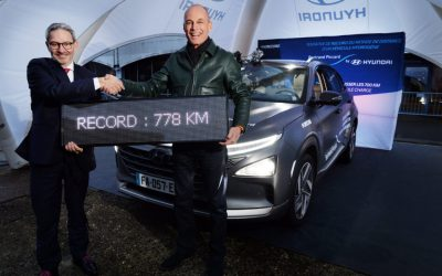 Hyundai Nexo breaks record for distance traveled by hydrogen car without refueling