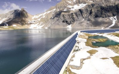 In the Swiss Alps, they integrate photovoltaic modules in the walls of dams