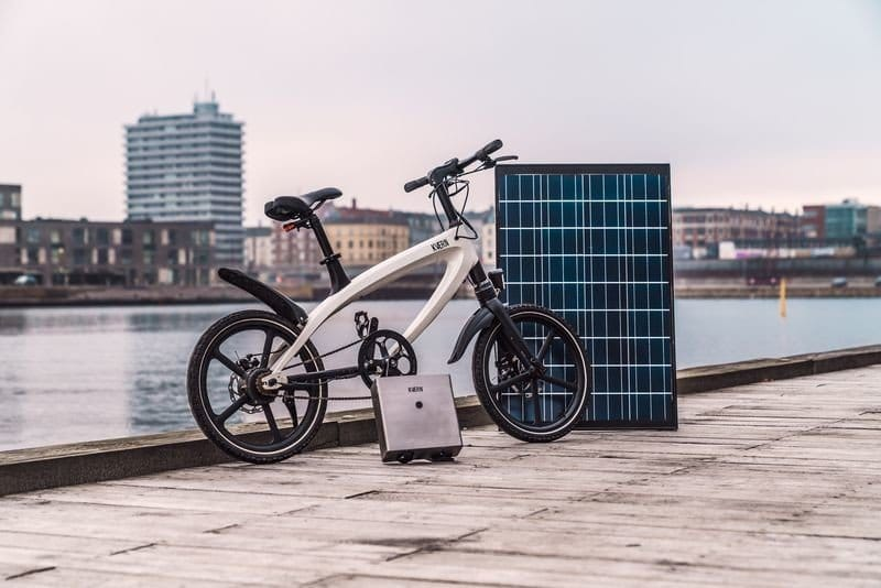 KVAERN, the first off-grid electric bicycle to be recharged with solar energy