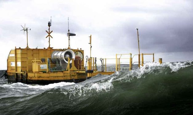 OE 35, the 826-ton giant that generates electricity from ocean waves