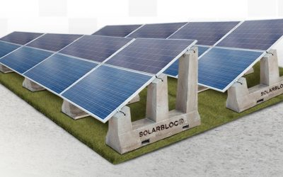SOLARBLOC, a new support for solar panels that reduces installation time